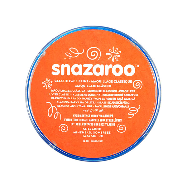 Snazaroo Orange 18ml Face Paint
