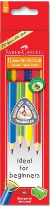 Junior Grip Triangular Pencil Hb X 12