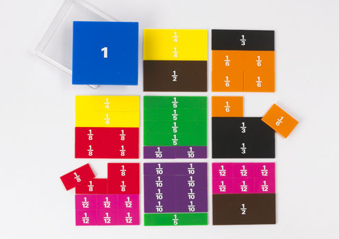 Fraction Squares  -  Printed (51pce)