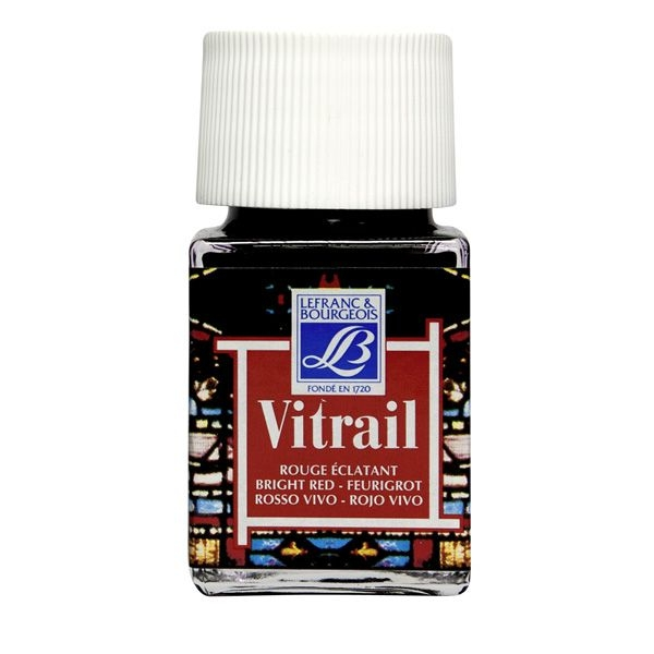 Vitrail 250ml Bright Red Glass Paint