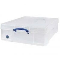Really Useful Box 50ltr Clr With Lid 50c