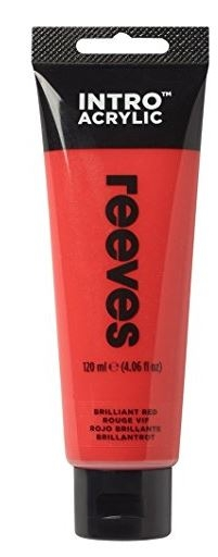 Reeves 120ml Brill Red Acrylic