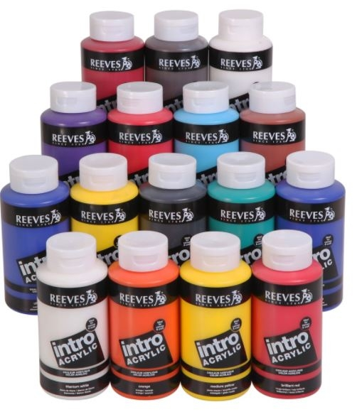 Reeves 500ml Umber Intro Acrylic