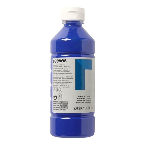 Reeves Redimix Poster Paint 500ml Brilliant Blue