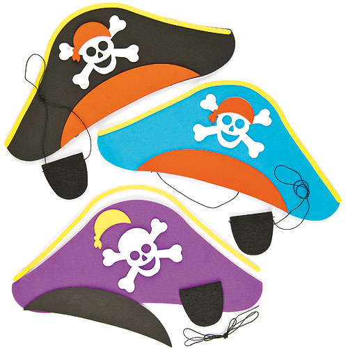 Pirate Hat & Eye Patch Kits Pk.3