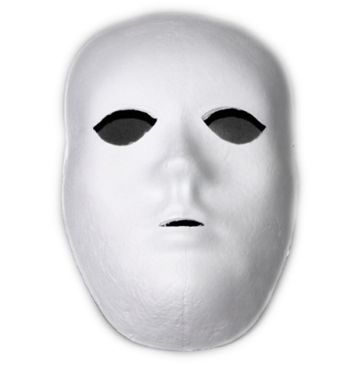 Face Mask White Plastic Single