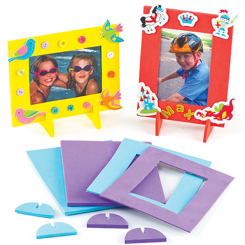 Foam Photo Frames Pk.4