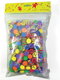 Foam Lacing Beads With Letters(500)