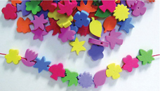 Foam Lacing Beads -plants(72)