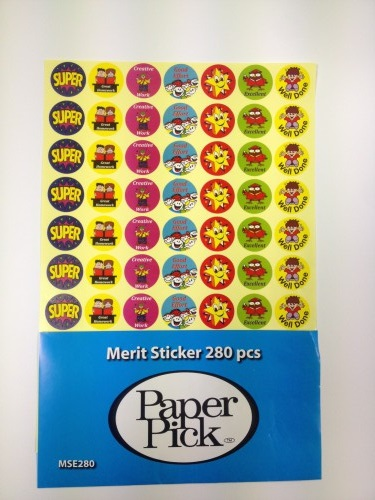 Merit Sticker -english(280)
