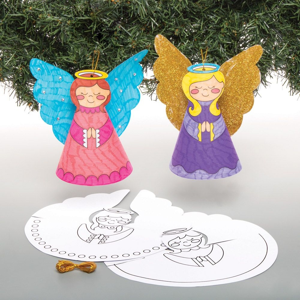 Angel Colour -in Cone Decorations (pack Of 10)