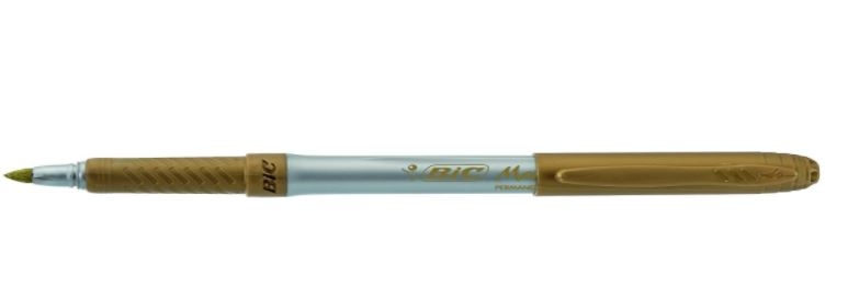 Bic Gold Marker Permanent
