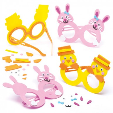 Chick & Bunny Glasses Kits (pack Of 4)