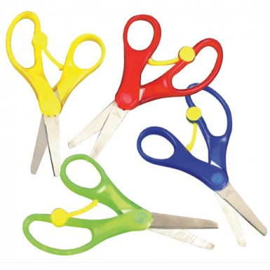 Scissors Spring Loaded Pk.6