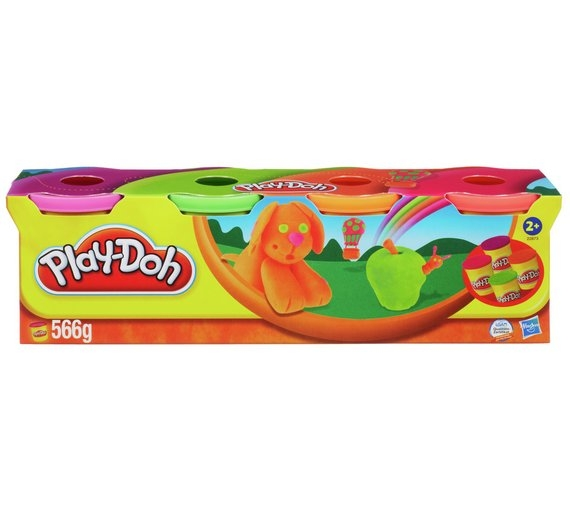 Play -doh 4 Pack Classic Colours 4oz Tubs