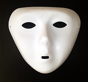 White Mask Plastic Single