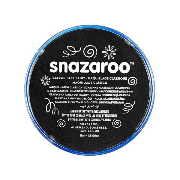 Snazaroo Black 18ml Face Paint
