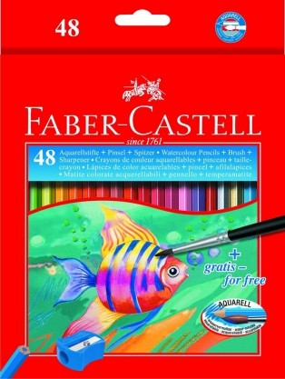 Faber Castell Water-soluble Pencils - 48 Pack