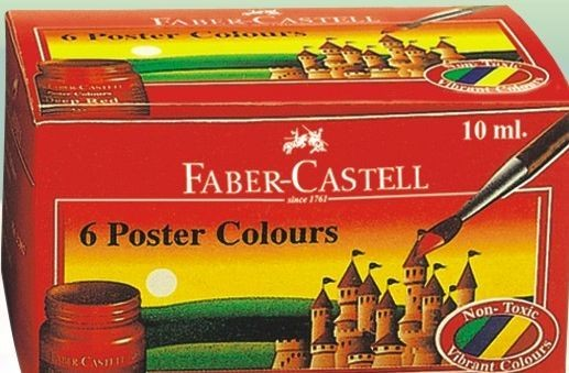 Faber Castell Poster Color Tin Pack Of 6 10ml Jars