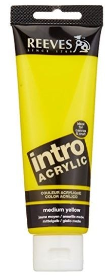 Reeves 120ml Med Yellow Acrylic