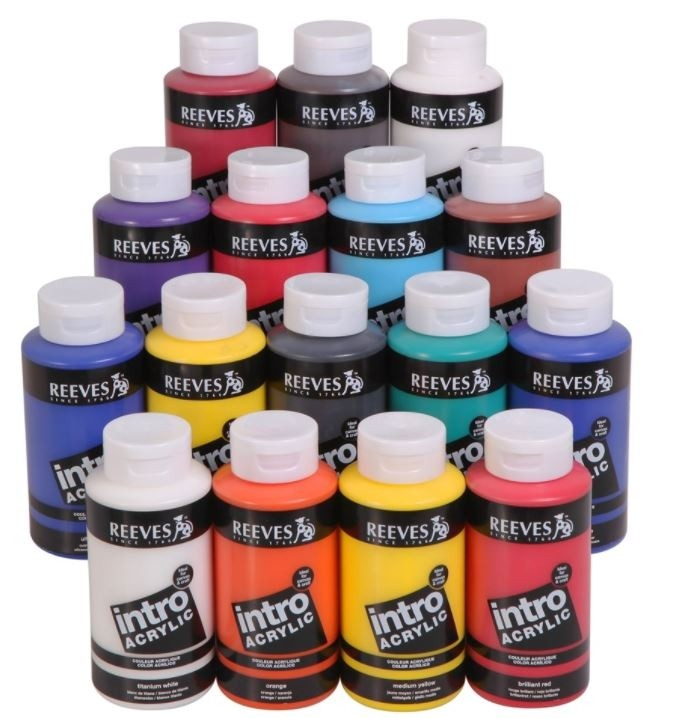 Reeves 500ml Green Intro Acrylic