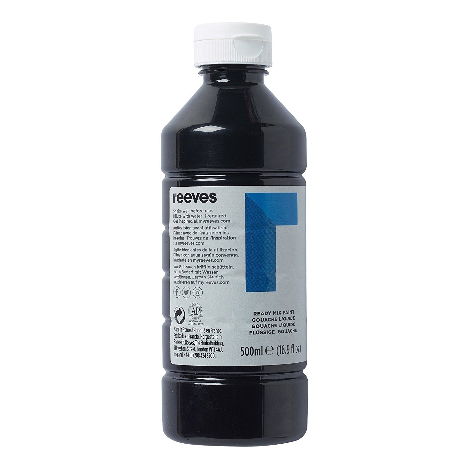 Reeves Black 500ml Poster Paint