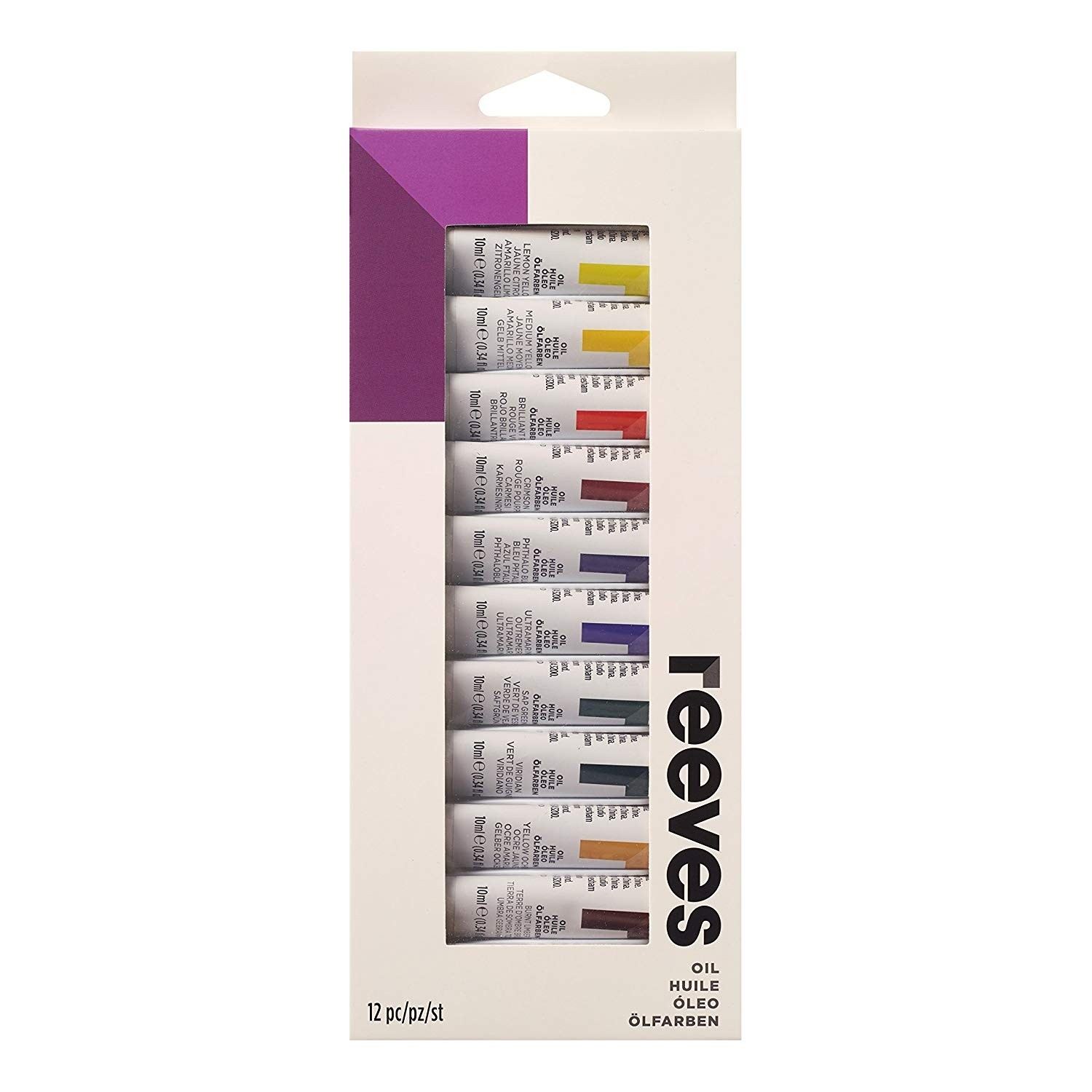Reeves 12 X 12ml Oil Colour Tube Set