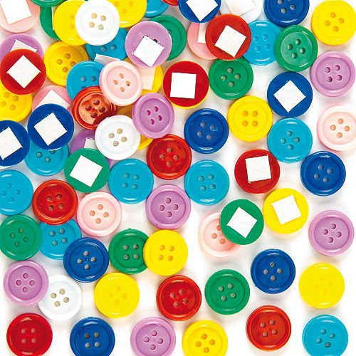 Self -adhesive Craft Buttons Pk.200