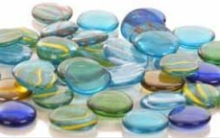 Glass Pebbles Swirl Patterned - 30  - 1kg