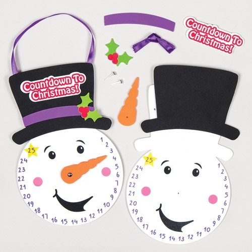 Snowman Countdown To Christmas Clock Kits (pack Of