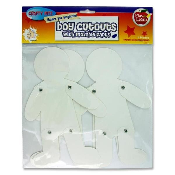 Crafty Bitz Pkt.4 Cutouts - Boy