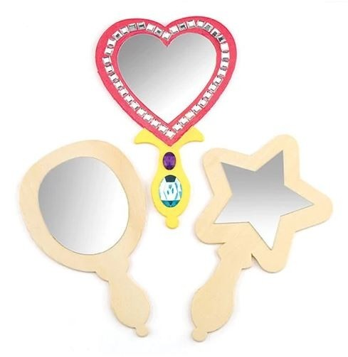 Wooden Mirrors (pack Of 3)