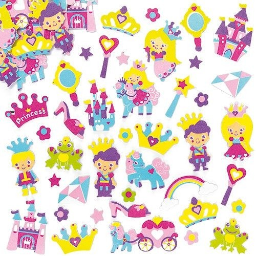 Princess Foam Stickers Pk.120