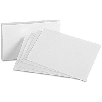 Flash Cards -white12x4(50)