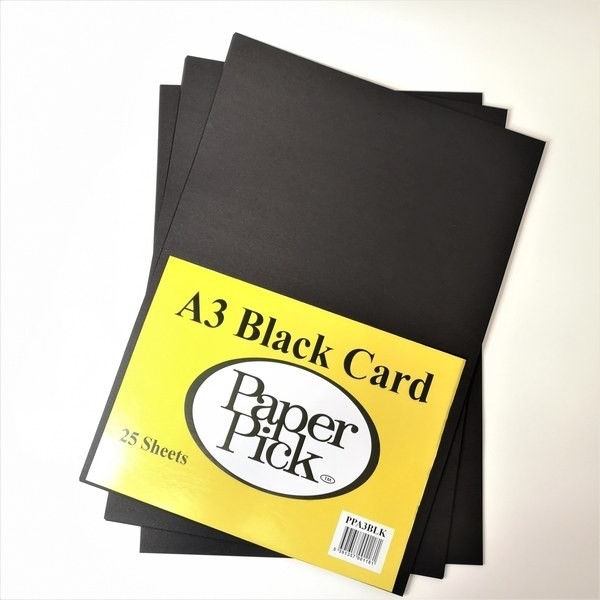 Paper Pick A3 Black Card Pk.25